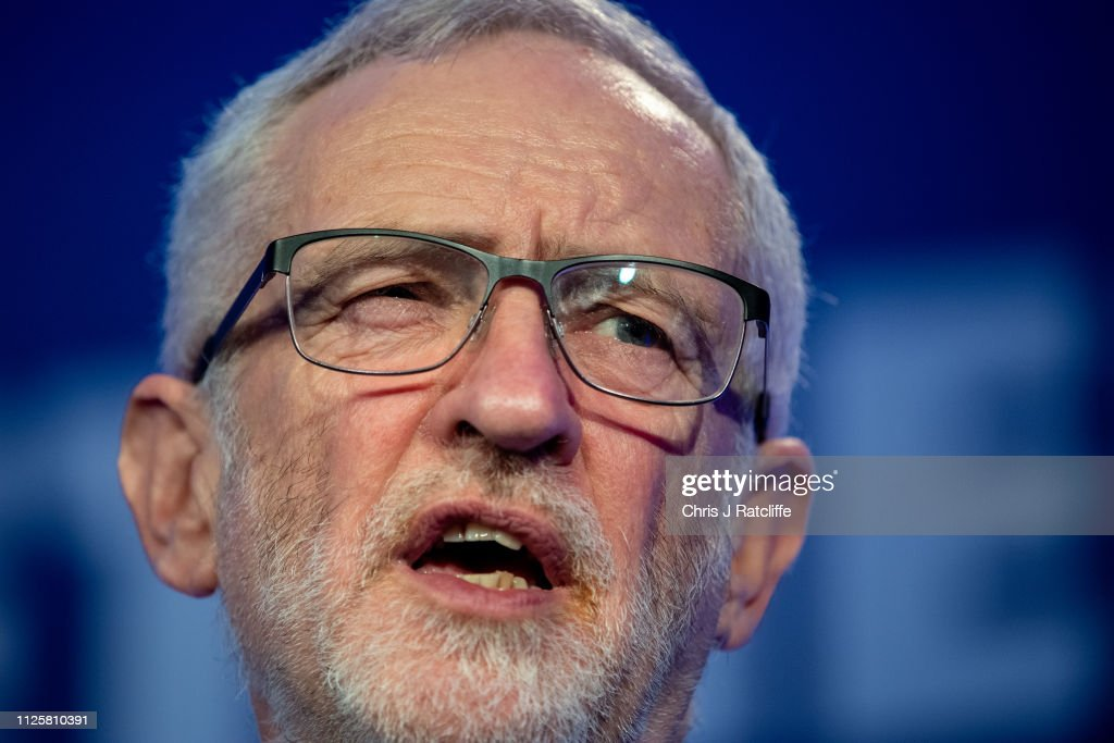 GBR: Jeremy Corbyn Addresses The EEF Manufacturing Conference, QEII Centre, London