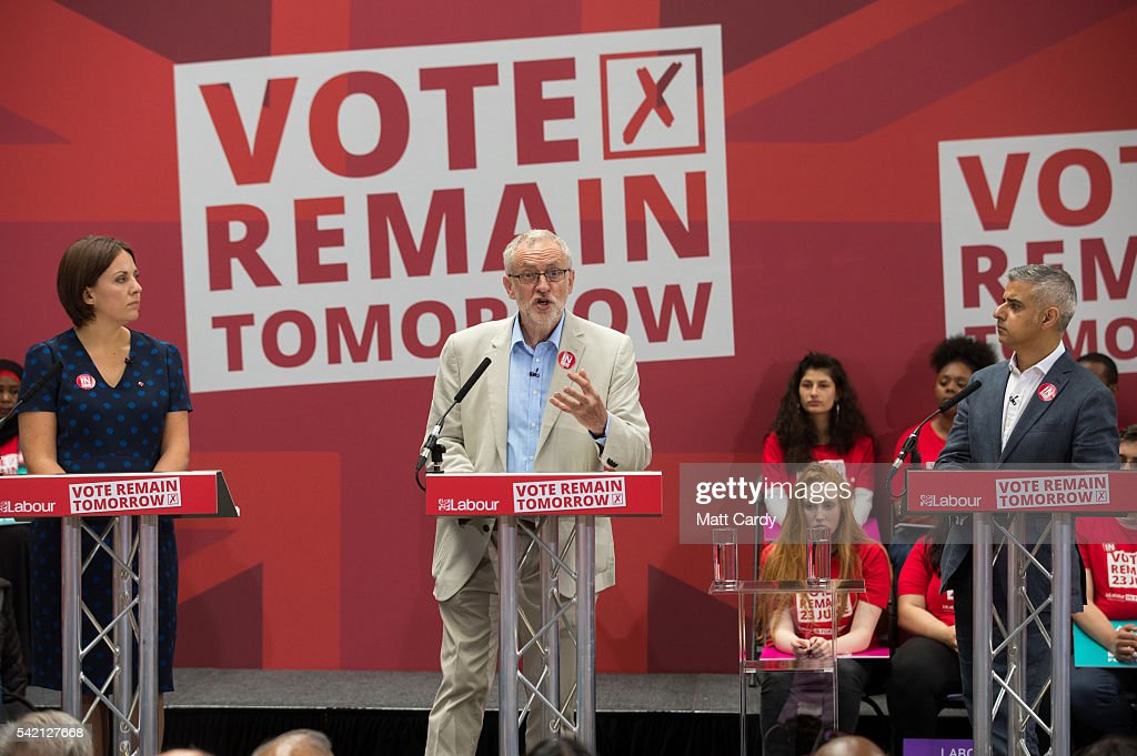 Labour In Rally For The Last Time In The EU Referendum Campaign : News Photo