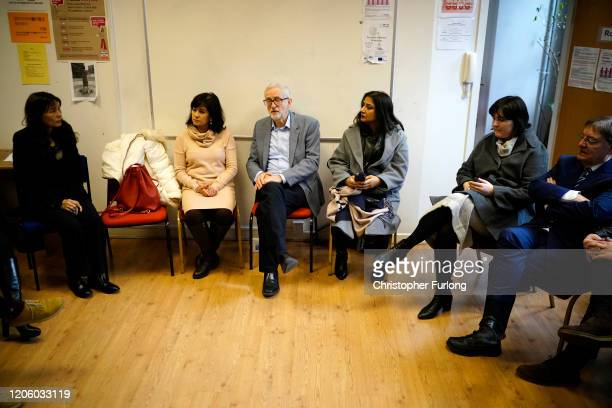 Labour party leader Jeremy Corbyn takes part in a discussion with the Manchester Chinese community on the effects of the Coronavirus on February 13...