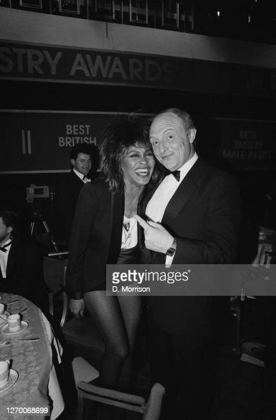 Labour Party leader Neil Kinnock with American singer Tina Turner after the British Record Industry Awards, aka the BRIT Awards, at the Grosvenor...
