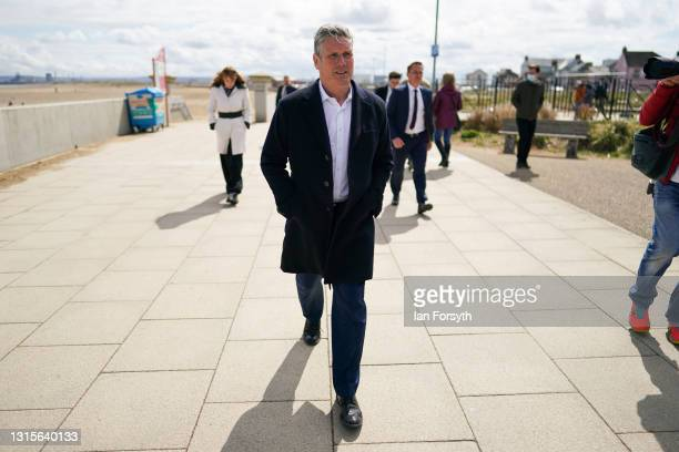 Labour Party leader Sir Keir Starmer, Angela Rayner, Deputy Leader and Chair of the Labour Party and Dr Paul Williams, Labour Party candidate for...