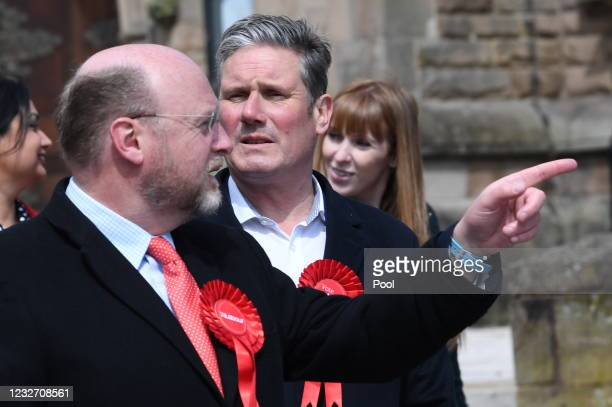 Labour Party Leader Sir Keir Starmer campaigns with West Midlands Mayoral Candidate Liam Byrne and deputy Labour Party Leader Angela Rayner on May 5,...