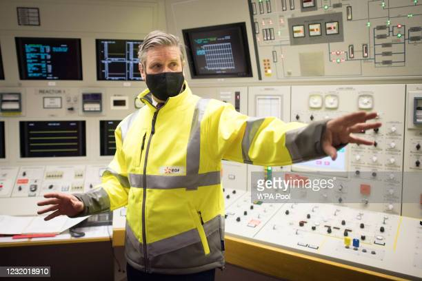 Labour Party leader Sir Keir Starmer visits Hartlepool Power Station with the party's by-election candidate, Dr Paul Williams, during a visit to the...