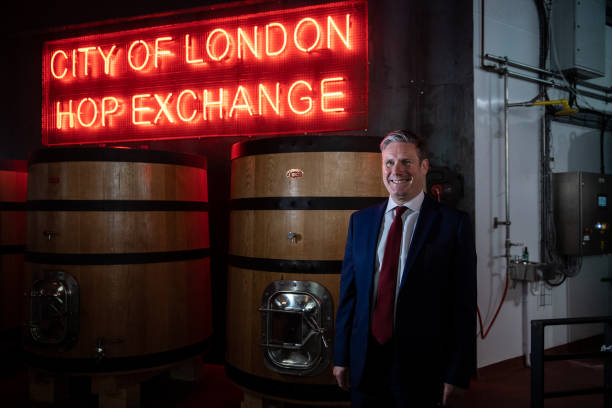 GBR: Labour Leader Visits A Brewdog Pub To Discuss Impact Of Coronavirus ON Hospitality Industry