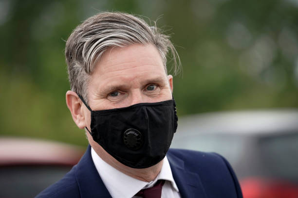 GBR: Sir Keir Starmer Visits Nursing Home Care Workers And Families Of Residents