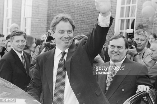 Labour Party leader Tony Blair with deputy leader John Prescott at the launch of the party's general election campaign at Chilston Park Country House...