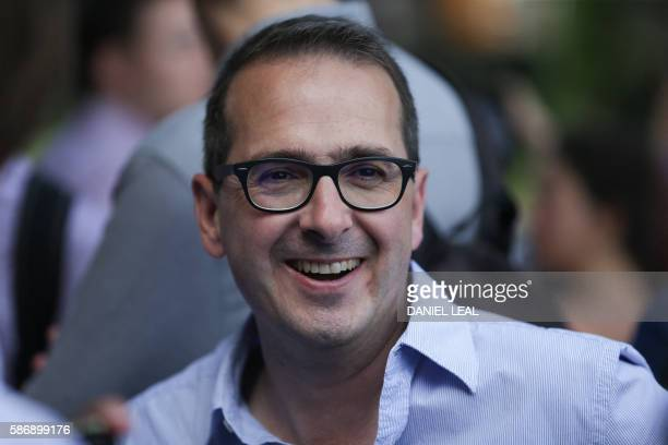 Labour Party leadership candidate Owen Smith smiles as he meet supporters during a picnic for young members in London Fields Hackney in London on...