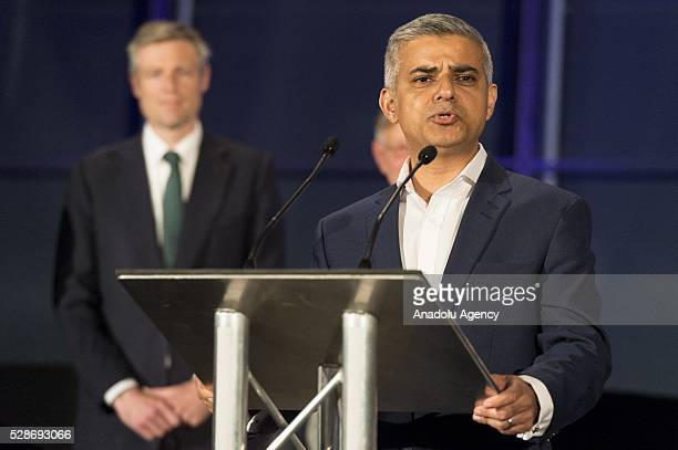 Labour Party mayoral candidate Sadiq Khan delivers a speech after Khan is announced as the new mayor of London after votes had been calculated at...