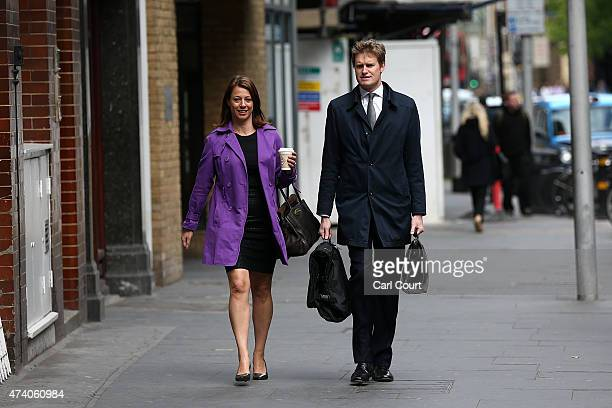 Labour Party Member of Parliament for StokeonTrent Central and Shadow Secretary of State for Education Tristram Hunt arrives with fellow Labour Party...