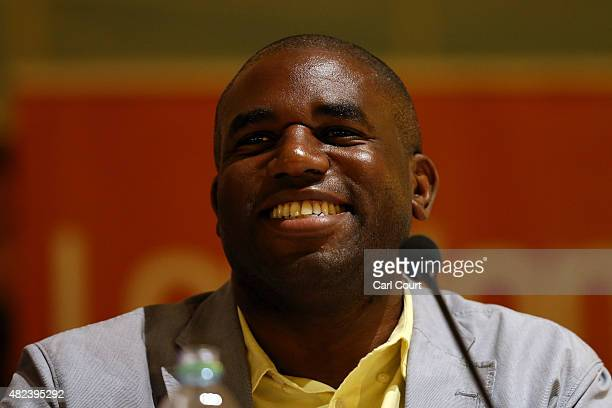 Labour Party Member of Parliament for Tottenham David Lammy speaks during a Labour party mayoral hustings on July 30 2015 in London England The...