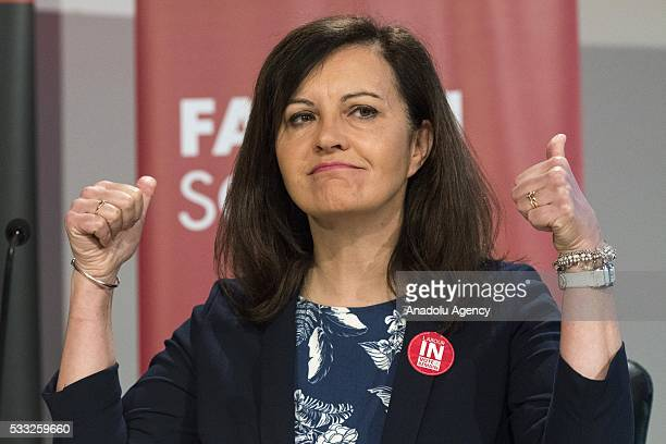 Labour Party MP Caroline Flint speaks at the Fabian Summer conference 2016 Britains Future Labours Future in London United Kingdom on May 21 2016