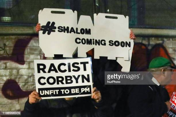 Labour Party opponents before Jeremy Corbyn's final campaign rally before General Elections in London Great Britain on December 11 2019