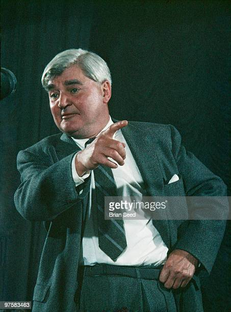 Labour party politician and creator of British National Health Service as Minister of Health in the Attlee Government Aneurin Bevan addressing Labour...