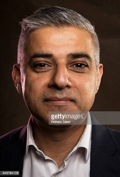 Labour party politician and mayor of London Sadiq Khan is photographed for the Observer on April 29 2016 in London England
