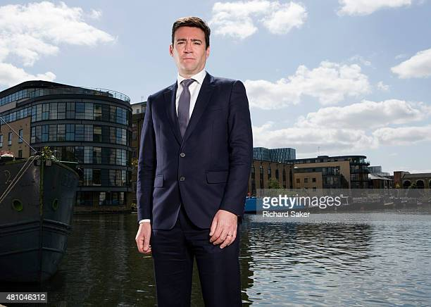 Labour party politician Andy Burnham is photographed for the Observer on May 16 2015 in London England