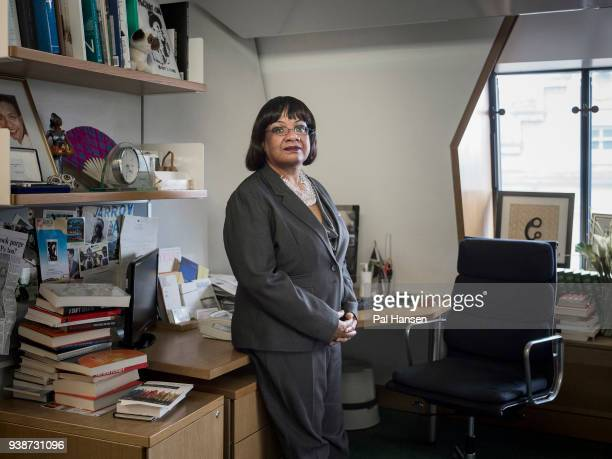 Labour party politician Diane Abbott is photographed for the Guardian on January 11 2018 in London England