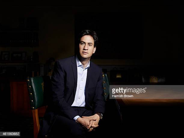 Labour party politician Ed Miliband is photographed for Red magazine on July 27 2014 in London England