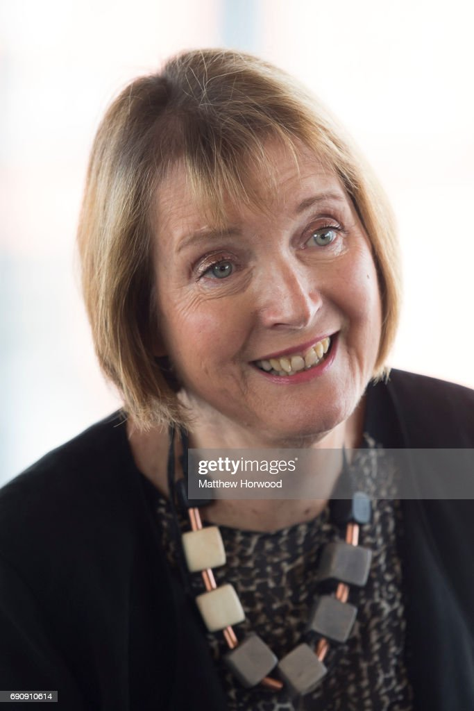 Labour Party politician Harriet Harman arrives at the funeral of former First Minister of Wales Rhodri Morgan at the Senedd in Cardiff Bay on May 31...