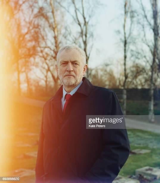 Labour Party politician Jeremy Corbyn is photographed on December 3 2016 in Prague Czech Republic