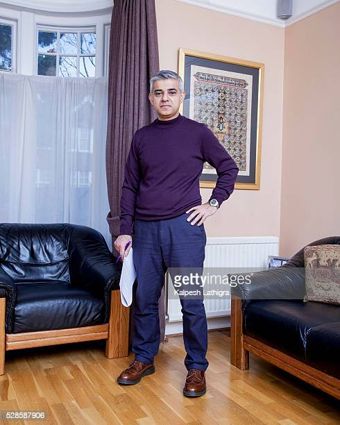Labour Party politician Sadiq Khan is photographed for the Telegraph on February 24 2016 in London England