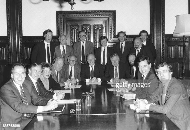 Labour Party Shadow Cabinet 1988 Back row L_R Michael Meacher David Clark Donald Dewar Brian Gould Barry Jones Tony Blair Frank Dobson Front Row L_R...