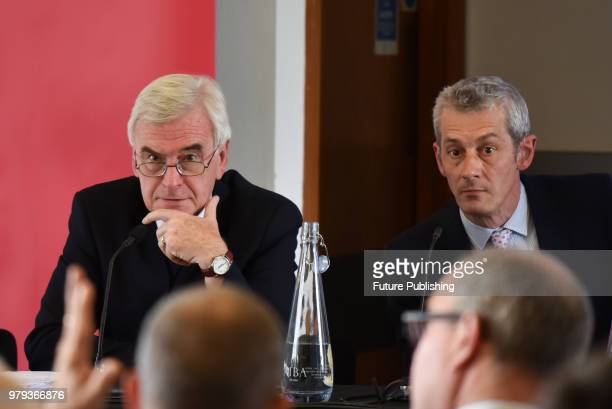 Labour Party Shadow Chancellor John McDonnell launches 'Financing Investment' Final Report by the economist Graham Turner of GFC Economics outlining...