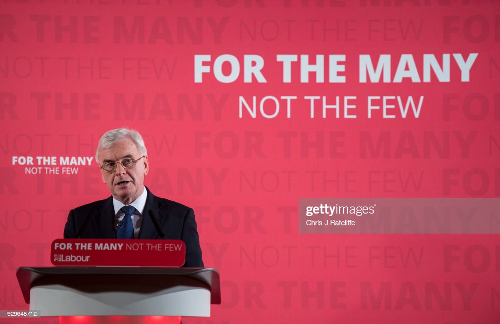 Shadow Chancellor Delivers Pre-Spring Statement Speech