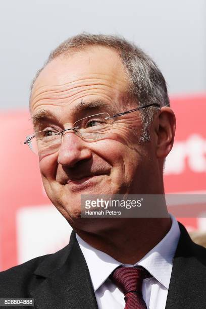 Labour Party Spokesperson for Auckland Issues Phil Twyford announcesLabour's Auckland Transport Plan on August 6 2017 in Auckland New Zealand Jacinda...