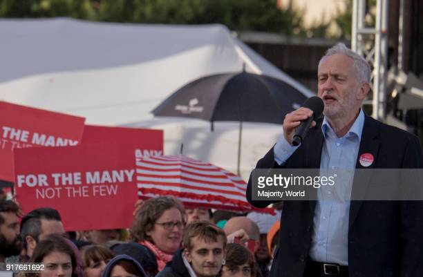 Labour Party supporters at a rally with leader Jeremy Corbyn 2 days before the general elections of June 8th Birmingham UK 6th June 2017
