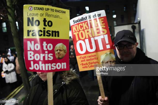 Labour Party supporters before Jeremy Corbyn's final campaign rally before General Elections in London Great Britain on December 11 2019