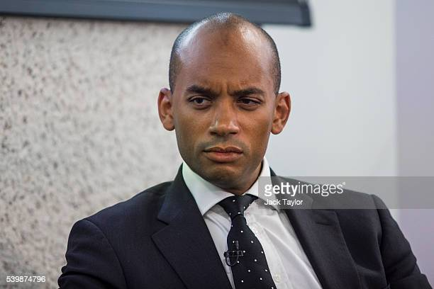Labour politician Chuka Umunna speaks at the Federation of Small Businesses European Union Referendum Debate at the Queen Elizabeth II Conference...
