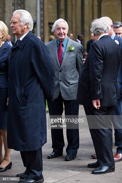 Labour politician Dennis Skinner arrives for a remembrance service for Jo Cox at St Margaret's church on June 20 2016 in London England Parliament...