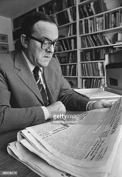 Labour politician Merlyn Rees at his home in Pinner 8th September 1978