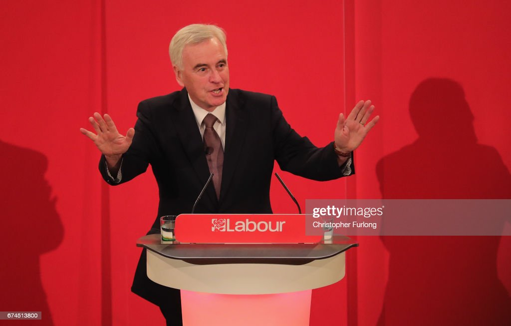 Labour's John McDonnell Addresses An Election Rally In His Home Town Of Liverpool