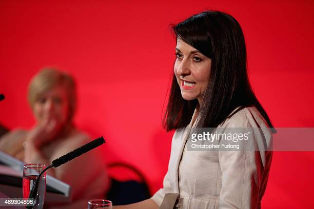 Labour shadow health minister Liz Kendal addresses activists as Labour launch the party's health manifesto at The Guiseley Theatre on April 11 2015...