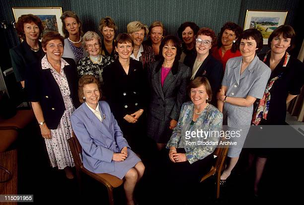 Labour women candidates photographed during the 1997 Labour Election Campaign After Tony Blair's victory the elected women MP's became known as...