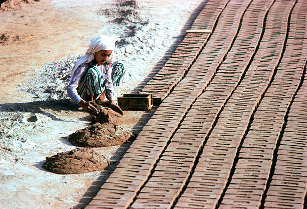 Labourer in a brick Factory India Punjab India