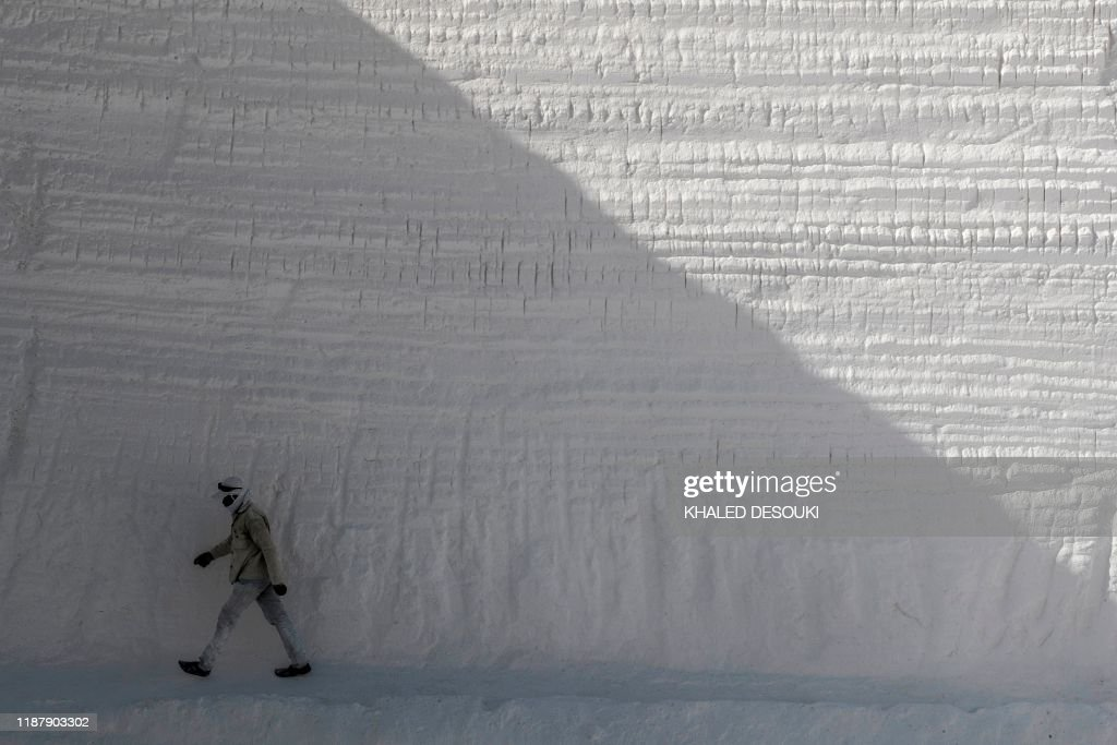 A Labourer Works At The White Mountain Limestone Extraction Quarry News Photo Getty Images