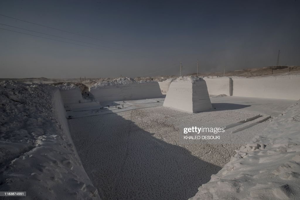 Labourers Work At The White Mountain Limestone Extraction Quarry News Photo Getty Images