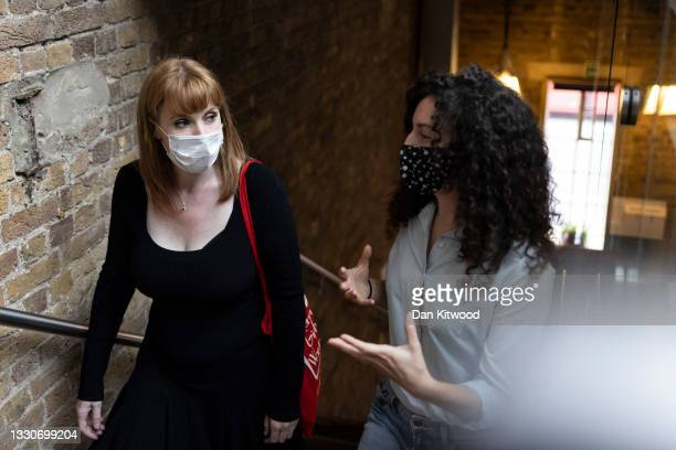 Labour's Angela Rayner visits a Social Enterprise Hub near King's Cross on July 26, 2021 in London, England. The opposition MP visited the social...
