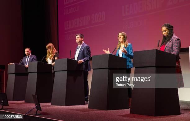 Labour's deputy leadership candidates Ian Murray Angela Rayner Richard Burgon Rosena AllinKhan and Dawn Butler attend the Labour's deputy leadership...