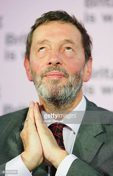 Labour's Home Secretary David Blunkett answers questions during a press conference about 'Law and Order' on October 21, 2004 in London, England....