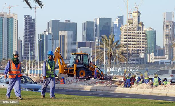 Labours in Doha , Qatar