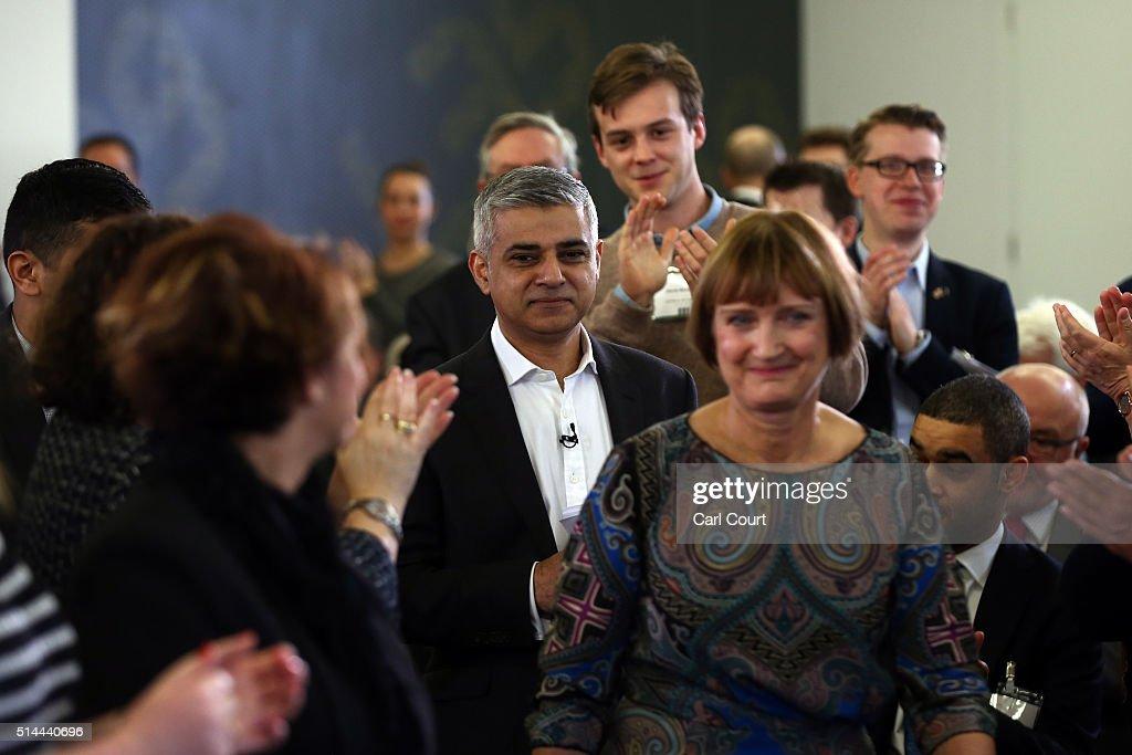 Sadiq Khan Launches Manifesto For His London Mayoral Bid