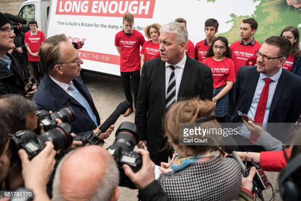 Labour's National Elections and Campaign Coordinator Ian Lavery is surrounded by members of the media as he asked questions about Jeremy Corbyn's...