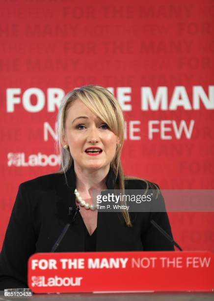 Labour's Shadow Business Secretary Rebecca LongBailey talks at press conference outlining the party's opposition to Conservative policy which they...