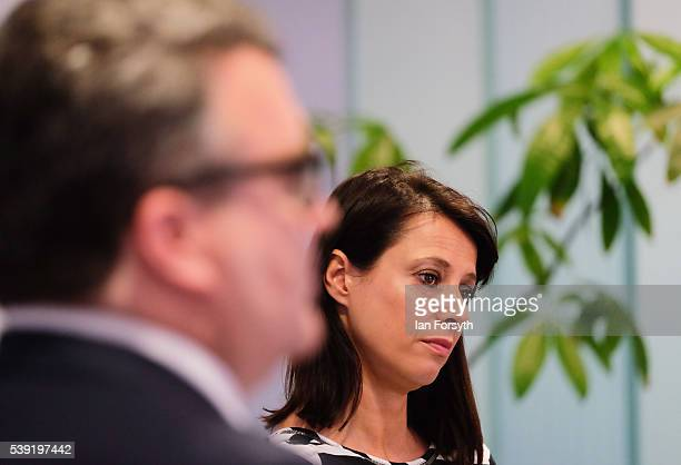 Labour's Shadow Cabinet Minister Gloria de Piero and Deputy Party Leader Tom Watson meet with a group of women voters to talk about the importance of...