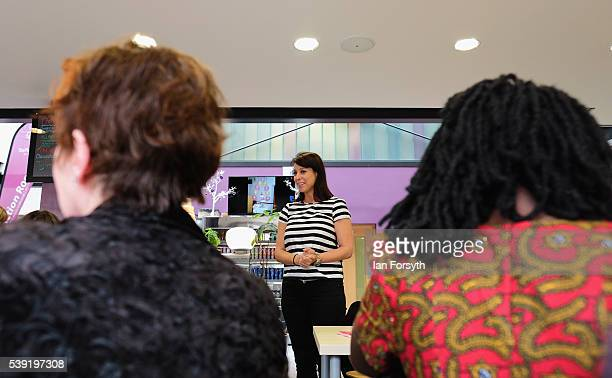 Labour's Shadow Cabinet Minister Gloria de Piero meets with a group of women voters to talk about the importance of a vote to remain in the European...