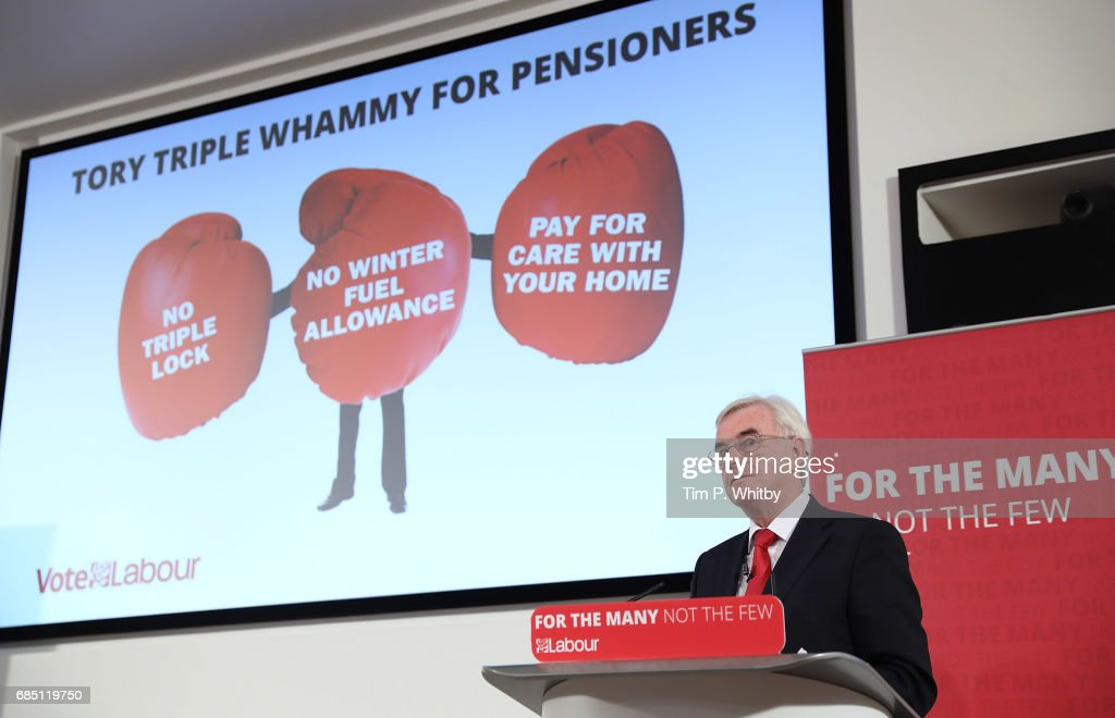 John McDonnell Holds A Campaign Press Conference In Central London