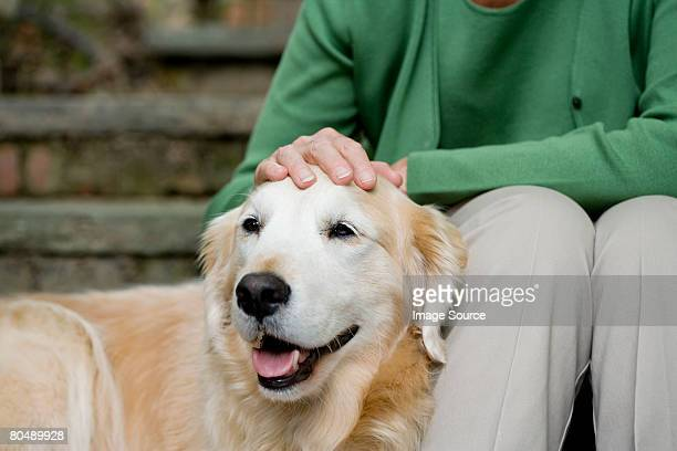 Labrador and owner